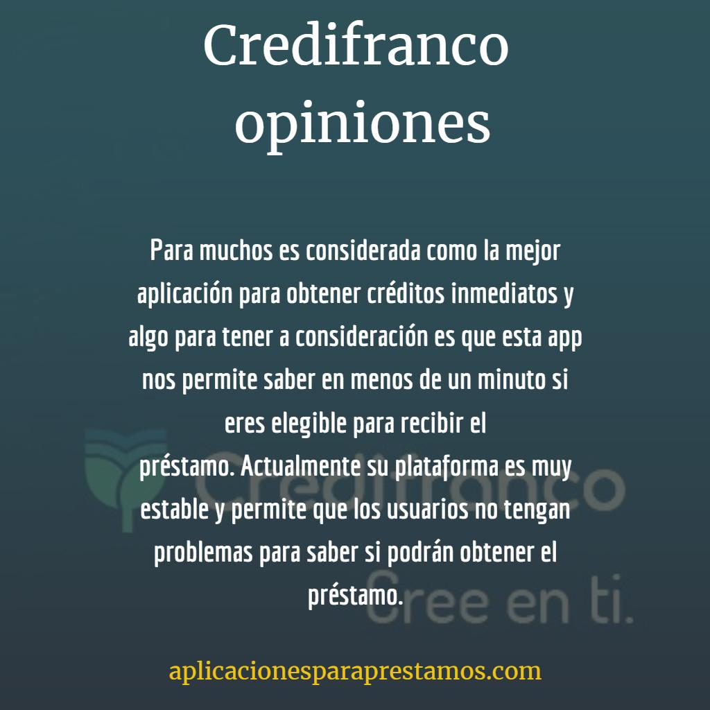 Credifranco opiniones