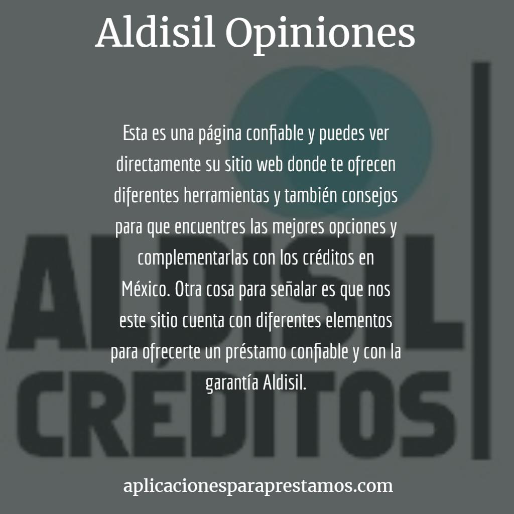 opiniones de Aldisil créditos