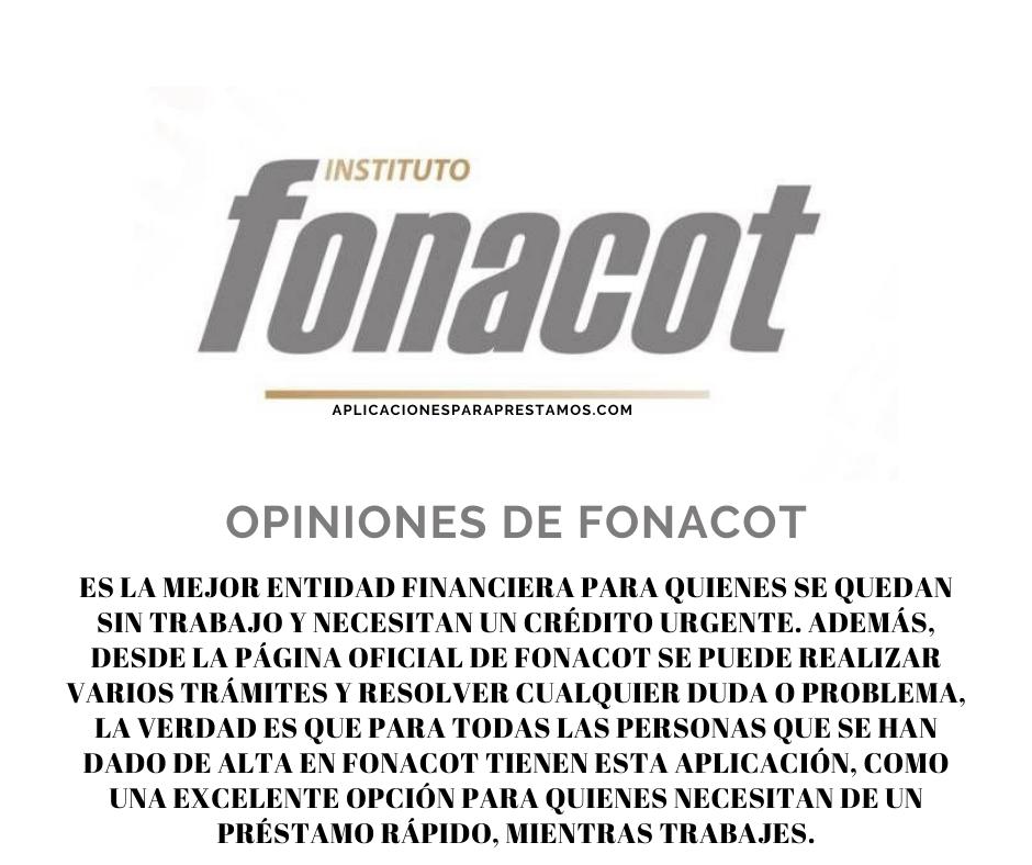 opiniones de Fonacot