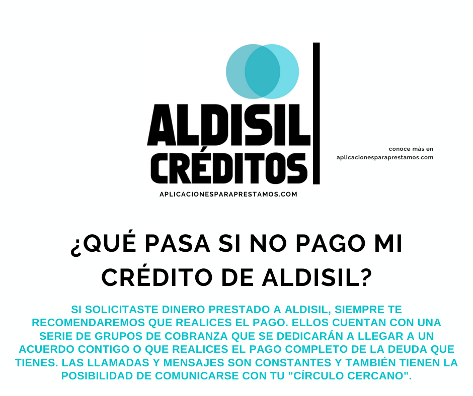 qué pasa si no pago a Aldisil