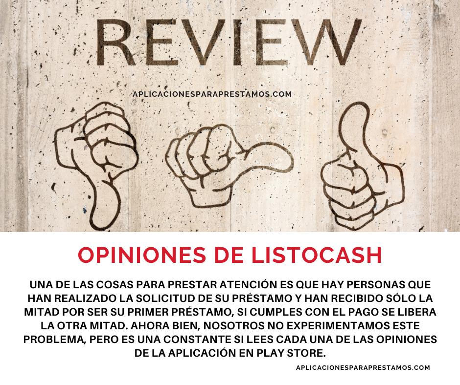 opiniones de ListoCash